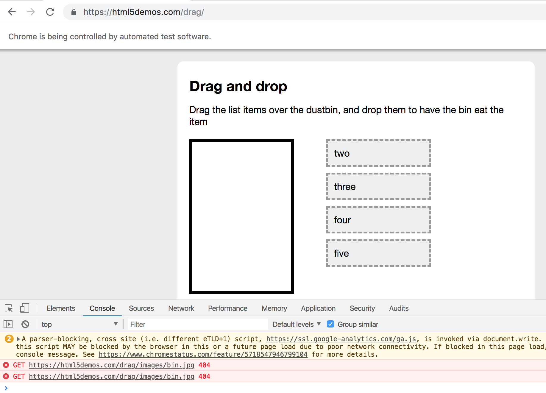I dragAndDrop does not work with Pupeeteer helper  · Issue #1333