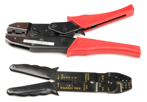 Pictures of two types of wire crimpers