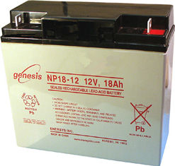 Image of a 12V battery