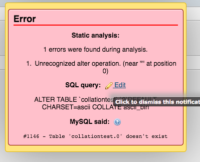 SQL error from incorrect table name when changing all table