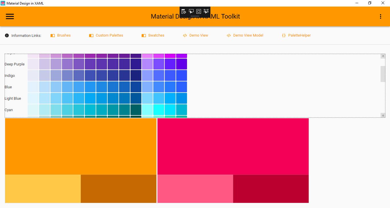 Secondary Colors Issue 1057 Materialdesigninxaml
