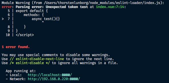 vue server` can not `use async/await` · Issue #2648 · vuejs