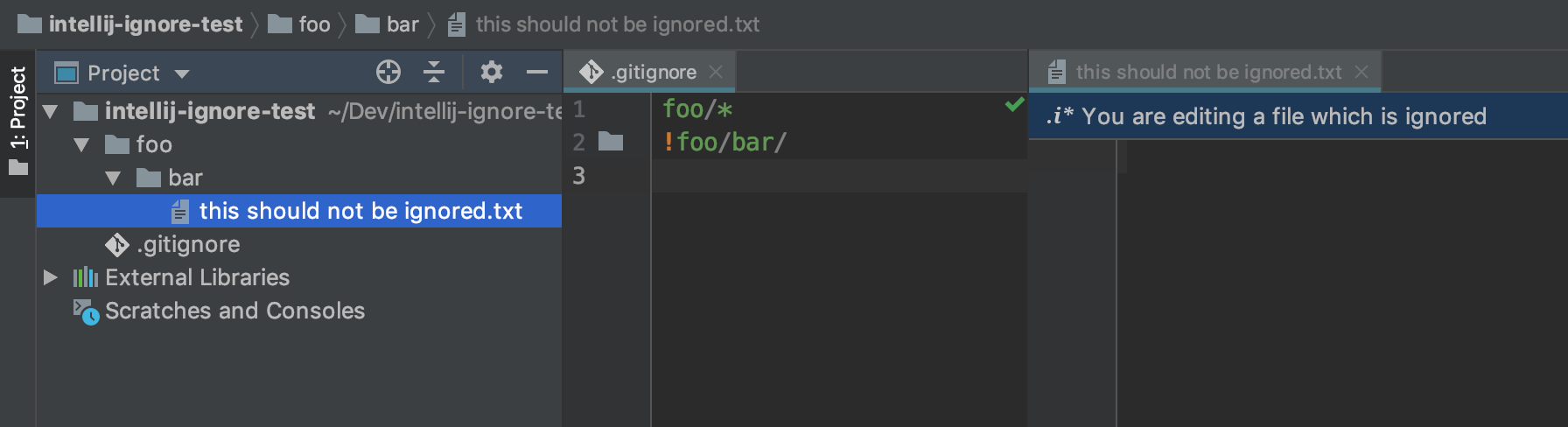 All files are marked as ignored · Issue #581 · JetBrains