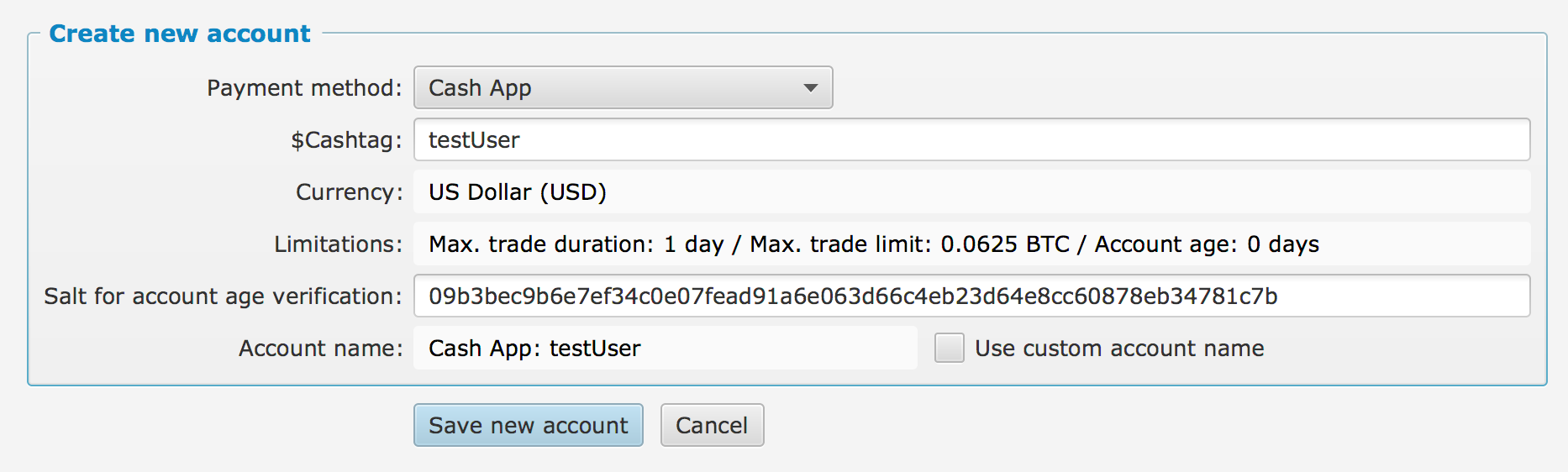 Add payment method: Square Cash App · Issue #1049 · bisq-network