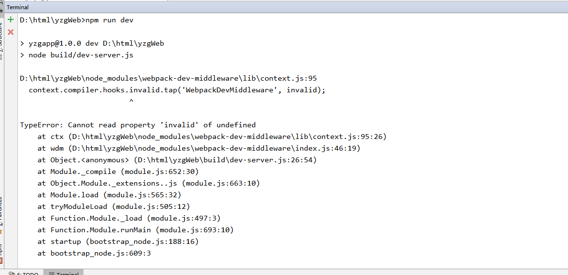 TypeError: Cannot read property 'invalid' of undefined