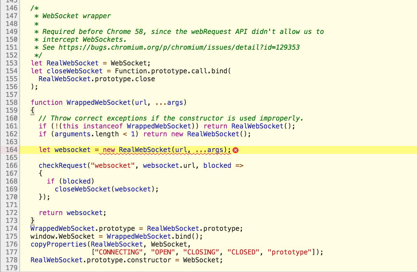 WebSocket connection to 'wss://public-api wordpress com