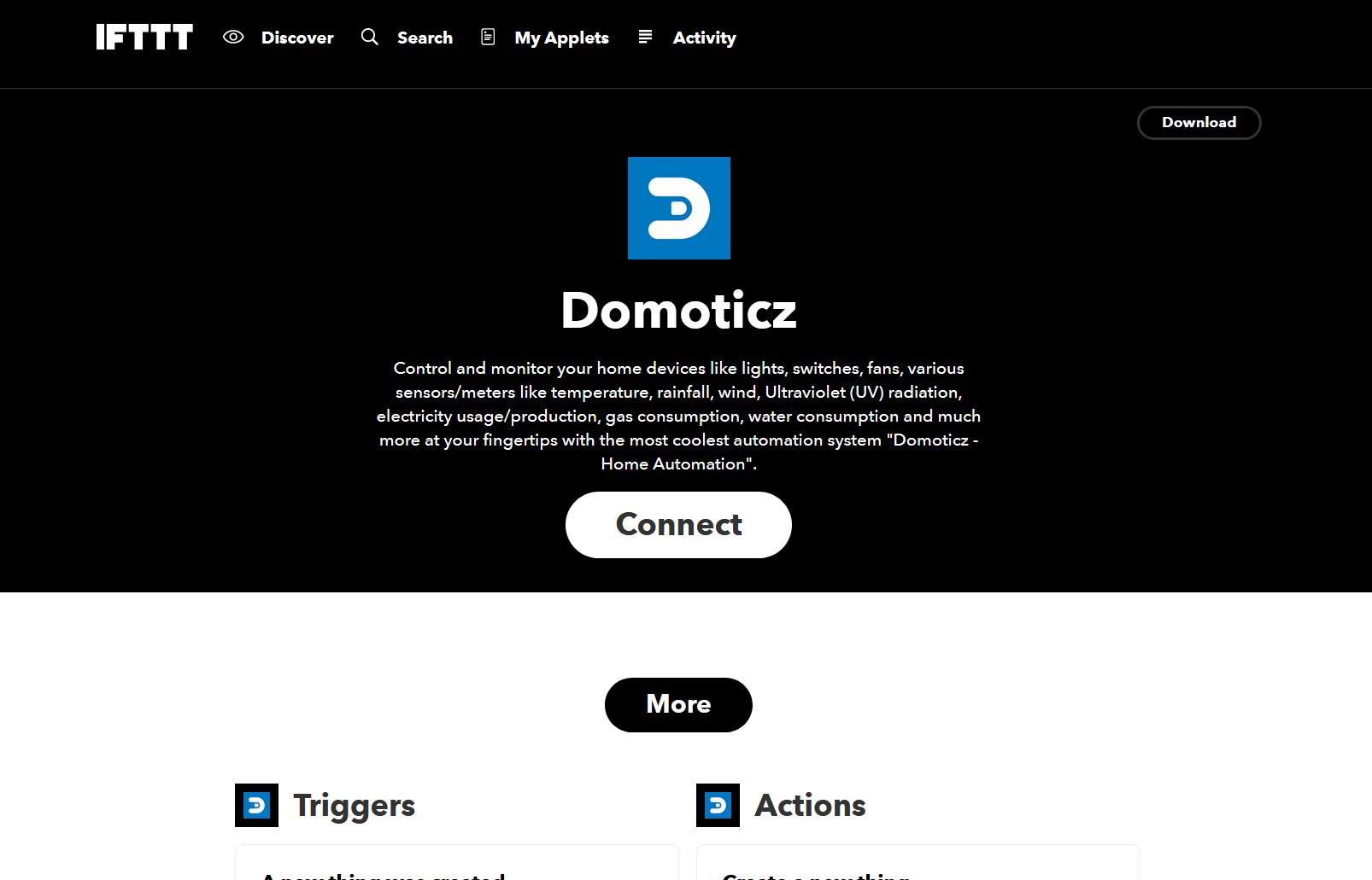 Integrate myDomoticz with IFTTT · Issue #5 · domoticz
