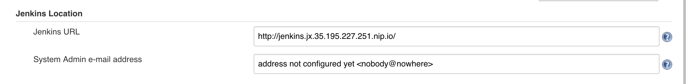 Jenkins hostname should be set (for pull request links) · Issue #397