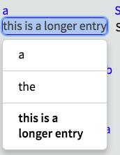 Select Adaptation dropdown - longer items displaying on