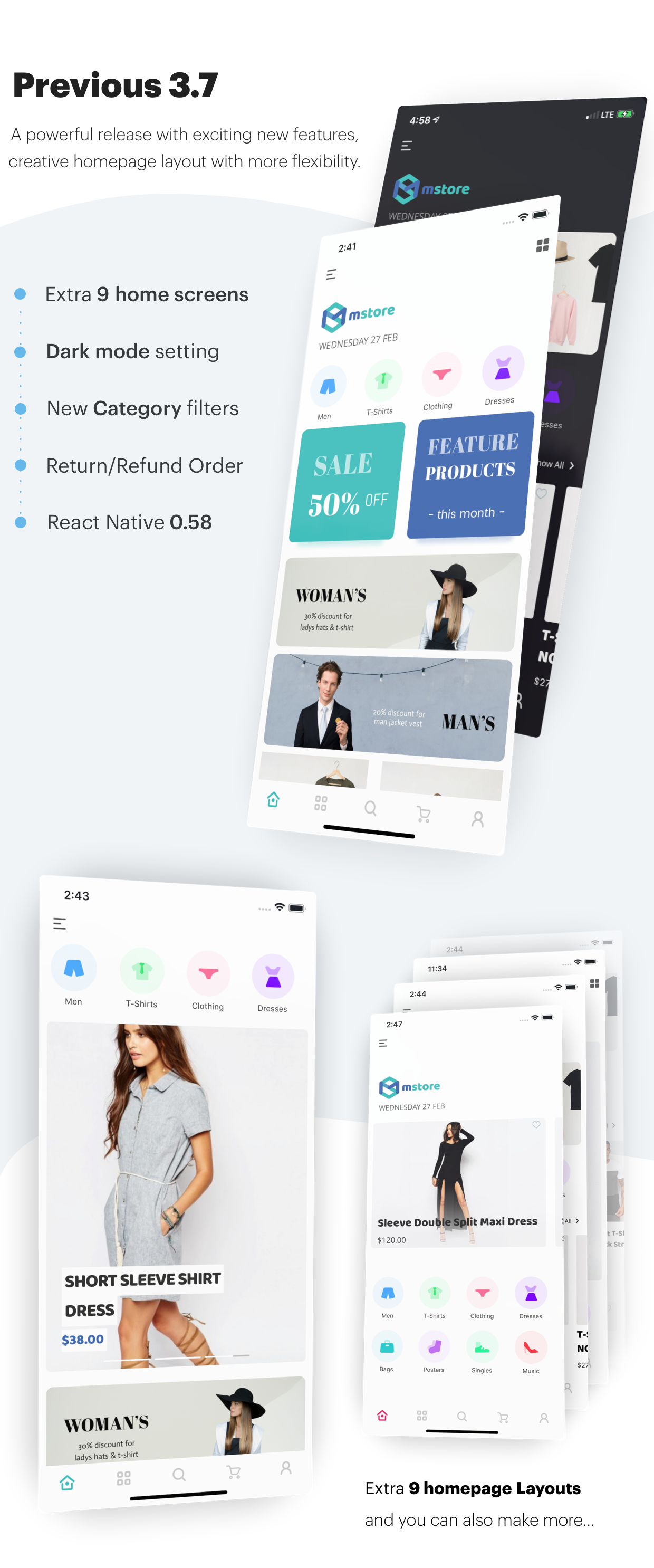 MStore Pro - Complete React Native template for e-commerce - 6
