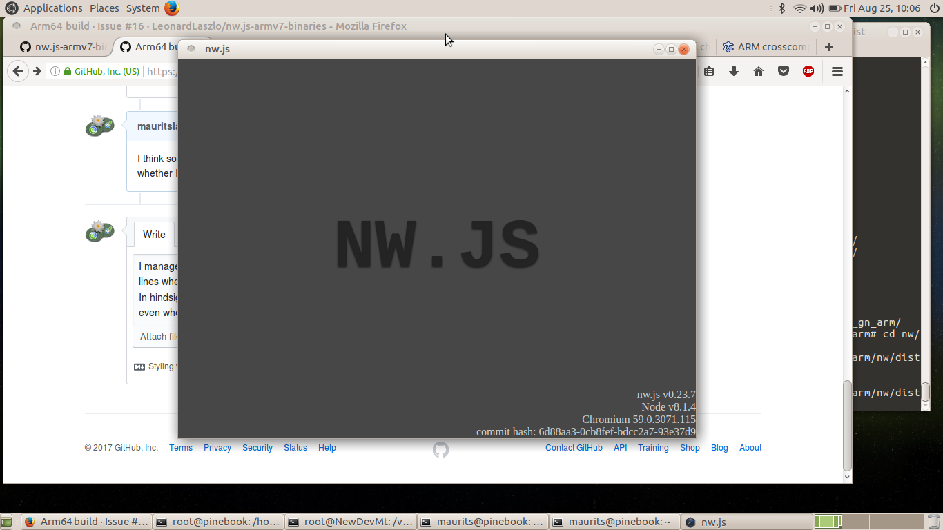 Arm64 build · Issue #16 · LeonardLaszlo/nw js-armv7-binaries · GitHub