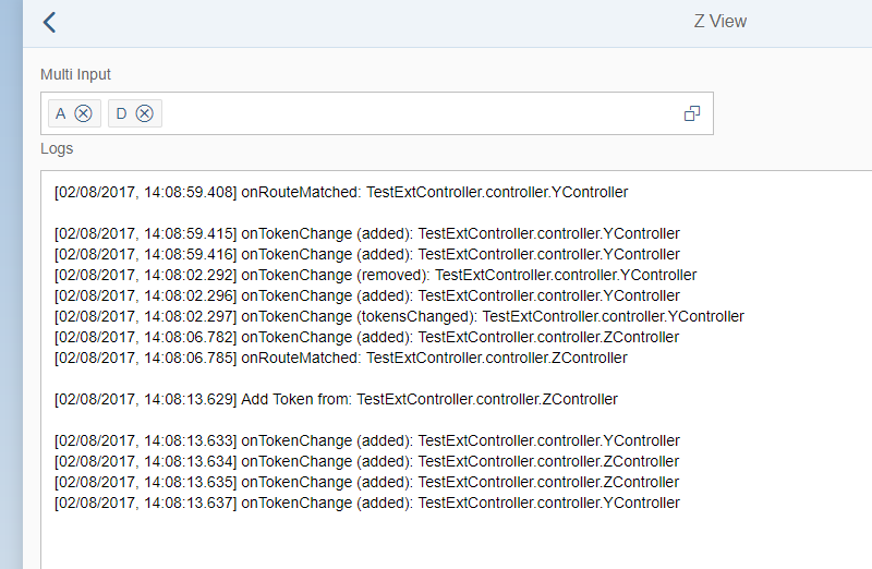 sap m MultiInput tokenChange called on not visible Controllers