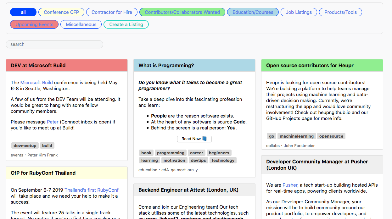 Classified listings UI: add color coding of listing titles