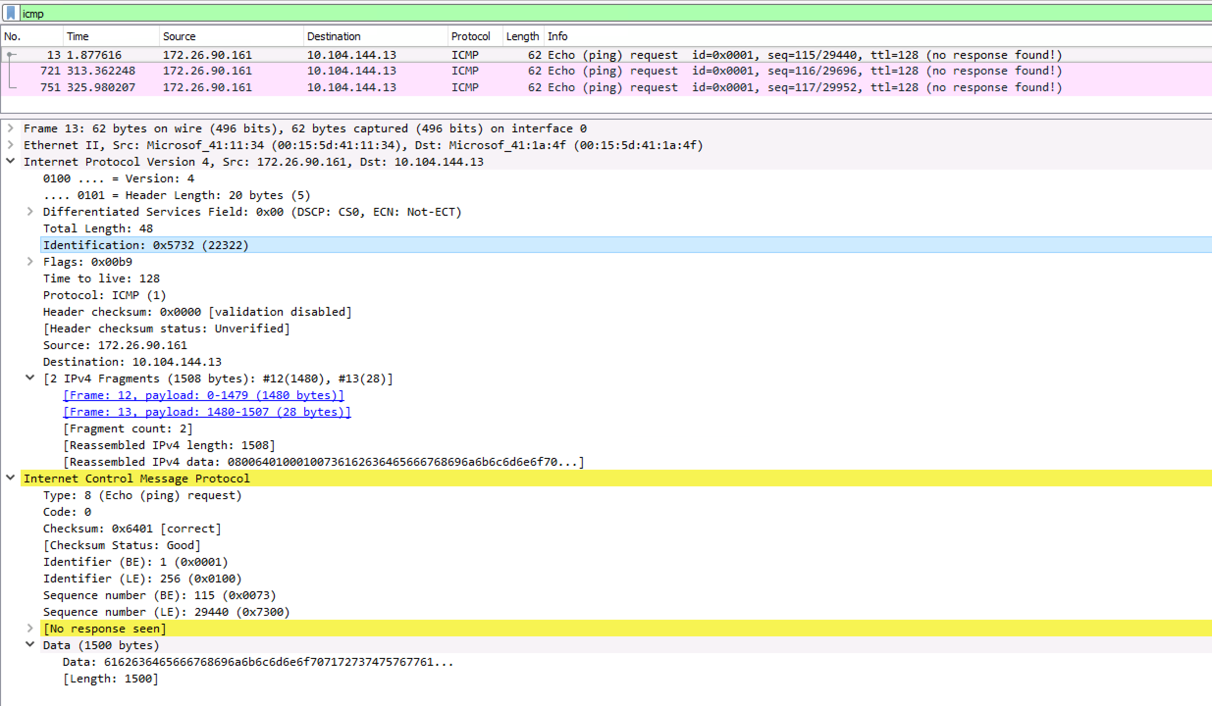 Sending UDP messages with packets greater than MTU from