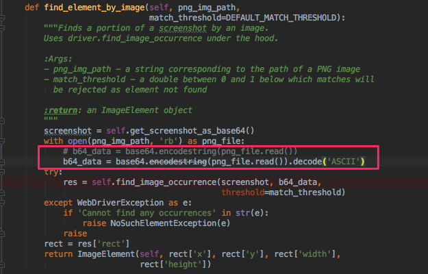 function `find_element_by_image` always raise an exception