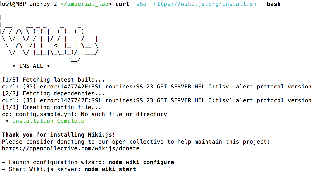 Can't install wiki-js on osx · Issue #615 · Requarks/wiki · GitHub