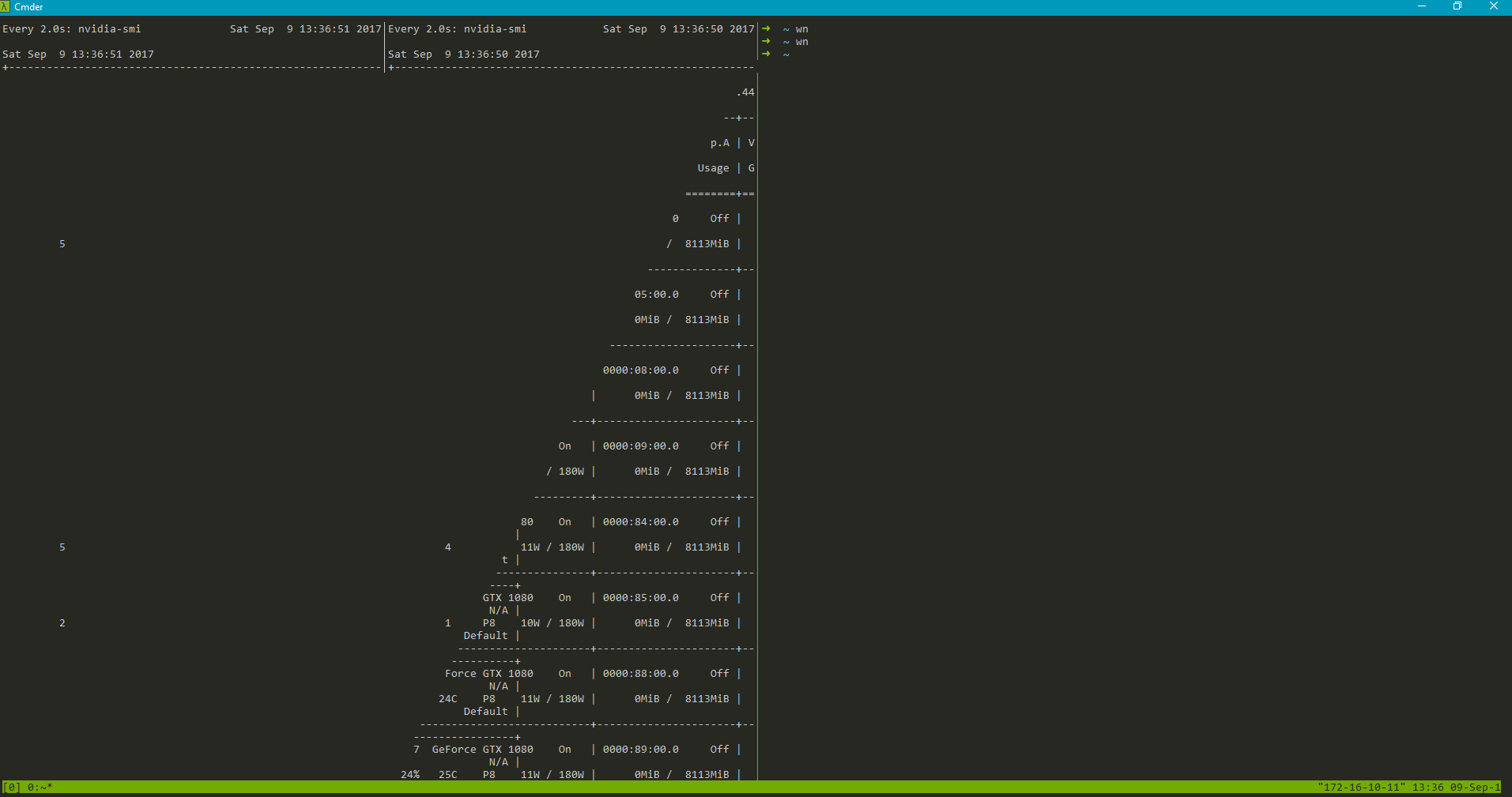 Certain applications layout Break under tmux inside an ssh