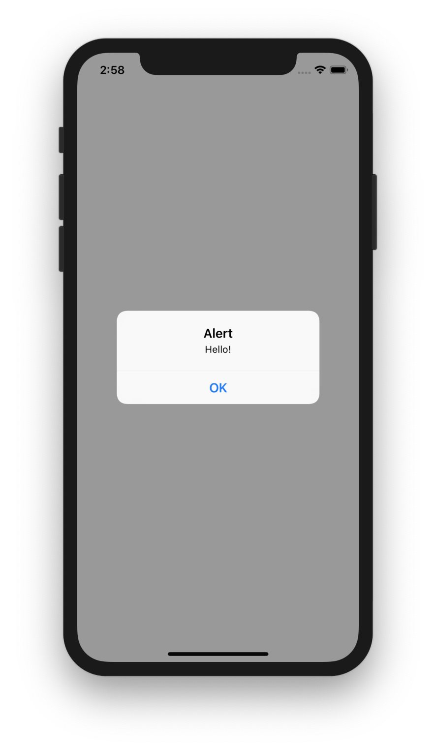 Alert showing communication from web page to React Native