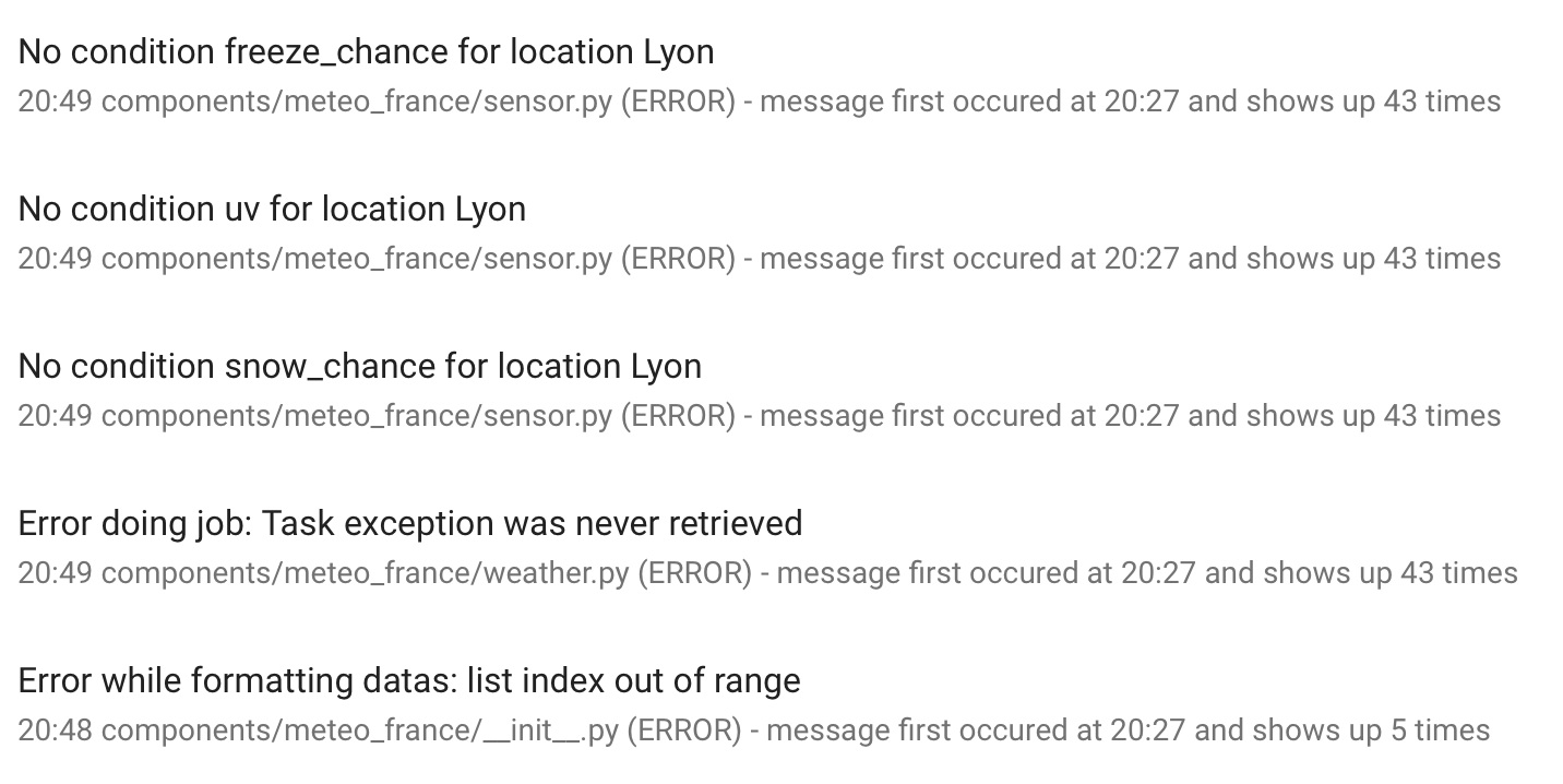 meteo_france crashes at start · Issue #24244 · home-assistant/home