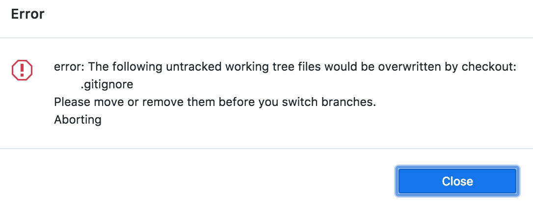 the following untracked working tree files would be overwritten by checkout