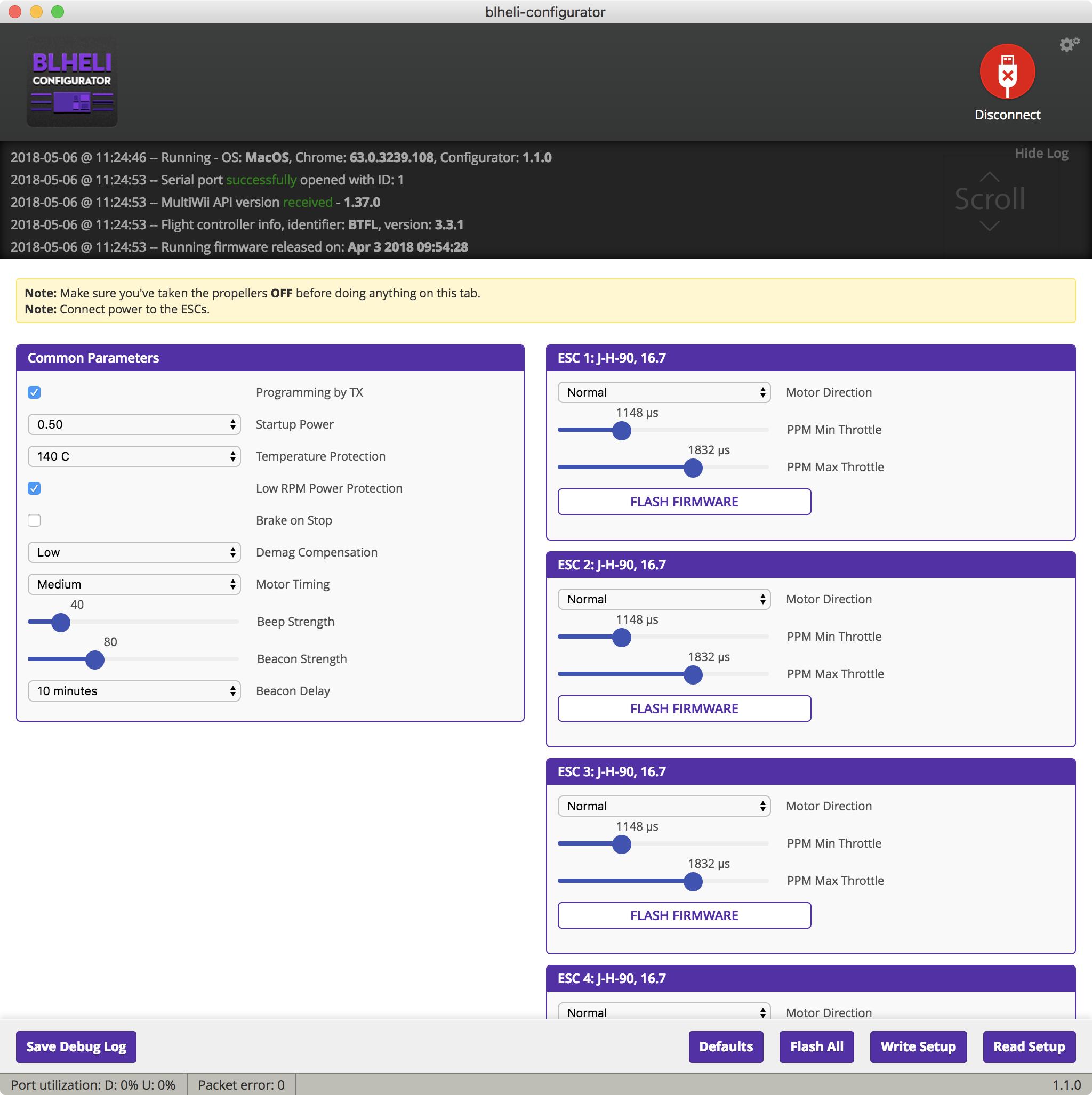 Connection Issue Betaflight 3 3 1/BLHeli Configurator Omnibus F3