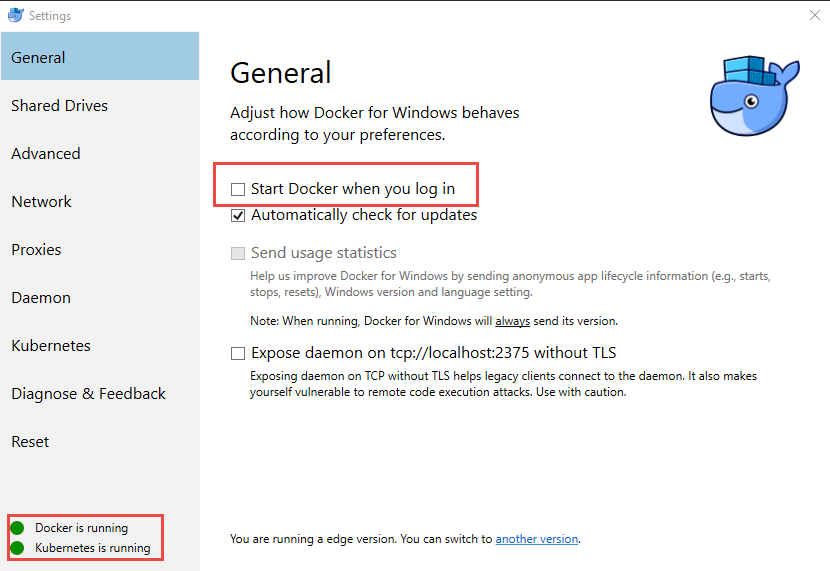 Docker fails to start with