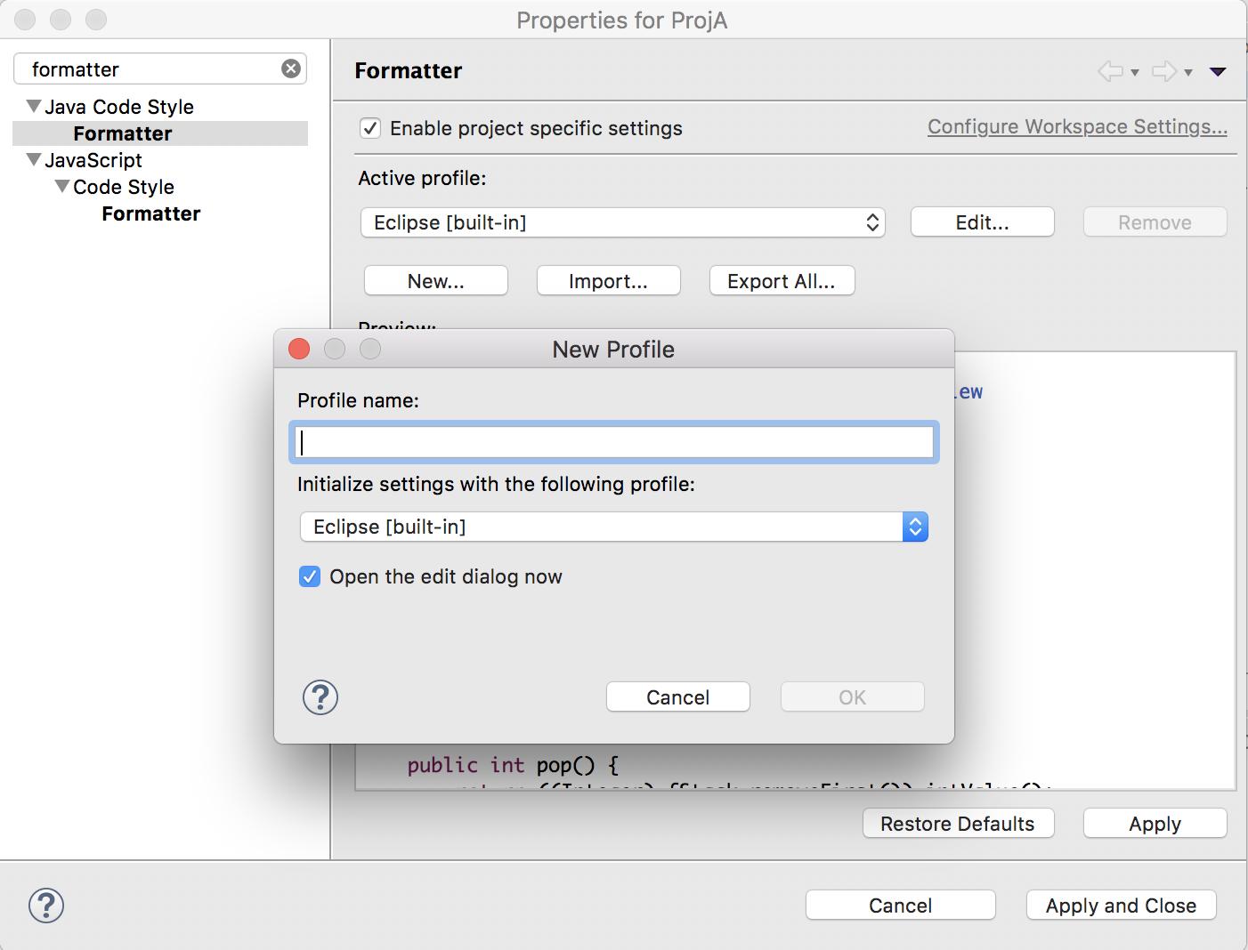 Formatter settings · redhat-developer/vscode-java Wiki · GitHub