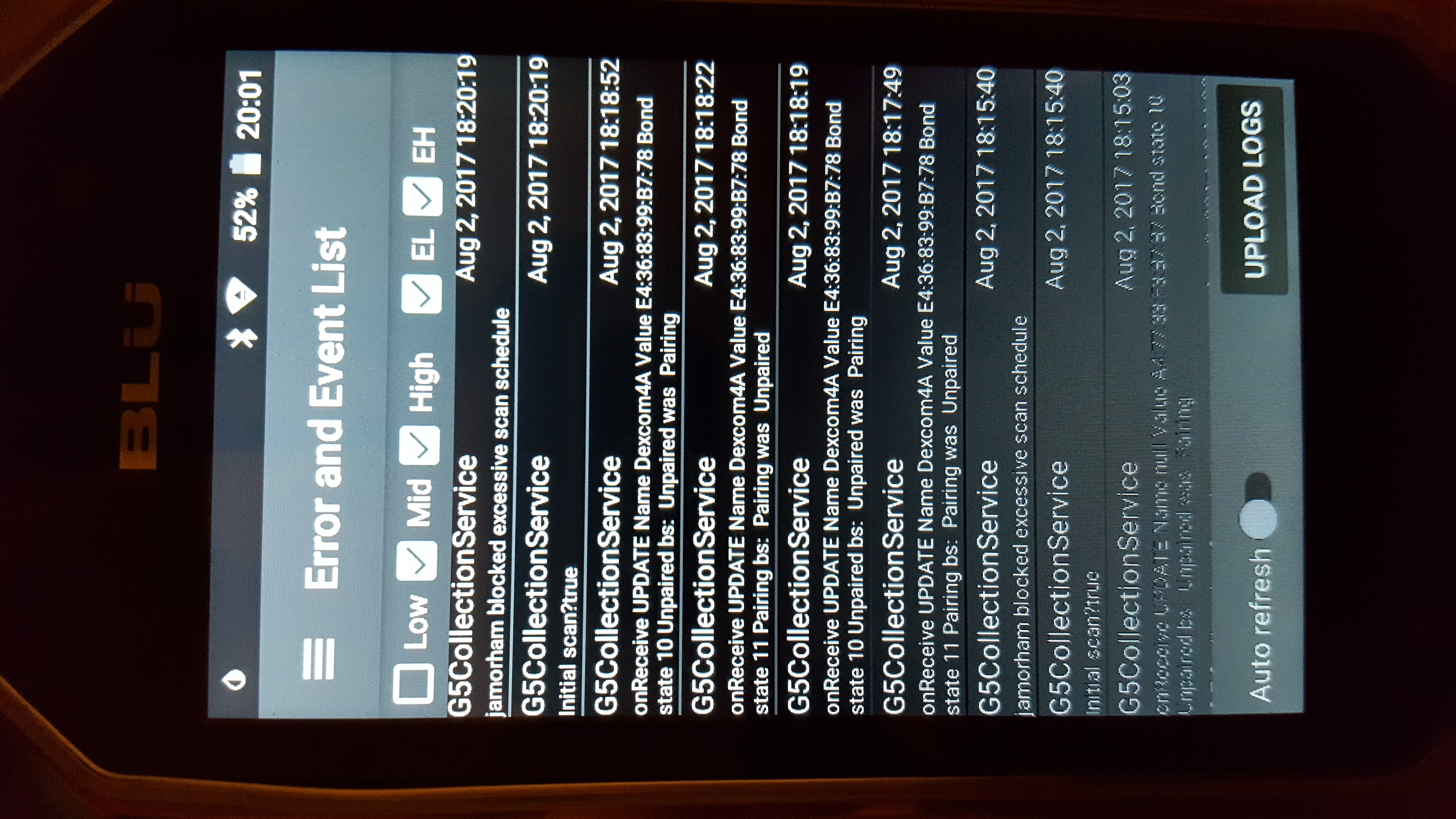 G5 Experimental] Transmitter not connecting to phone · Issue