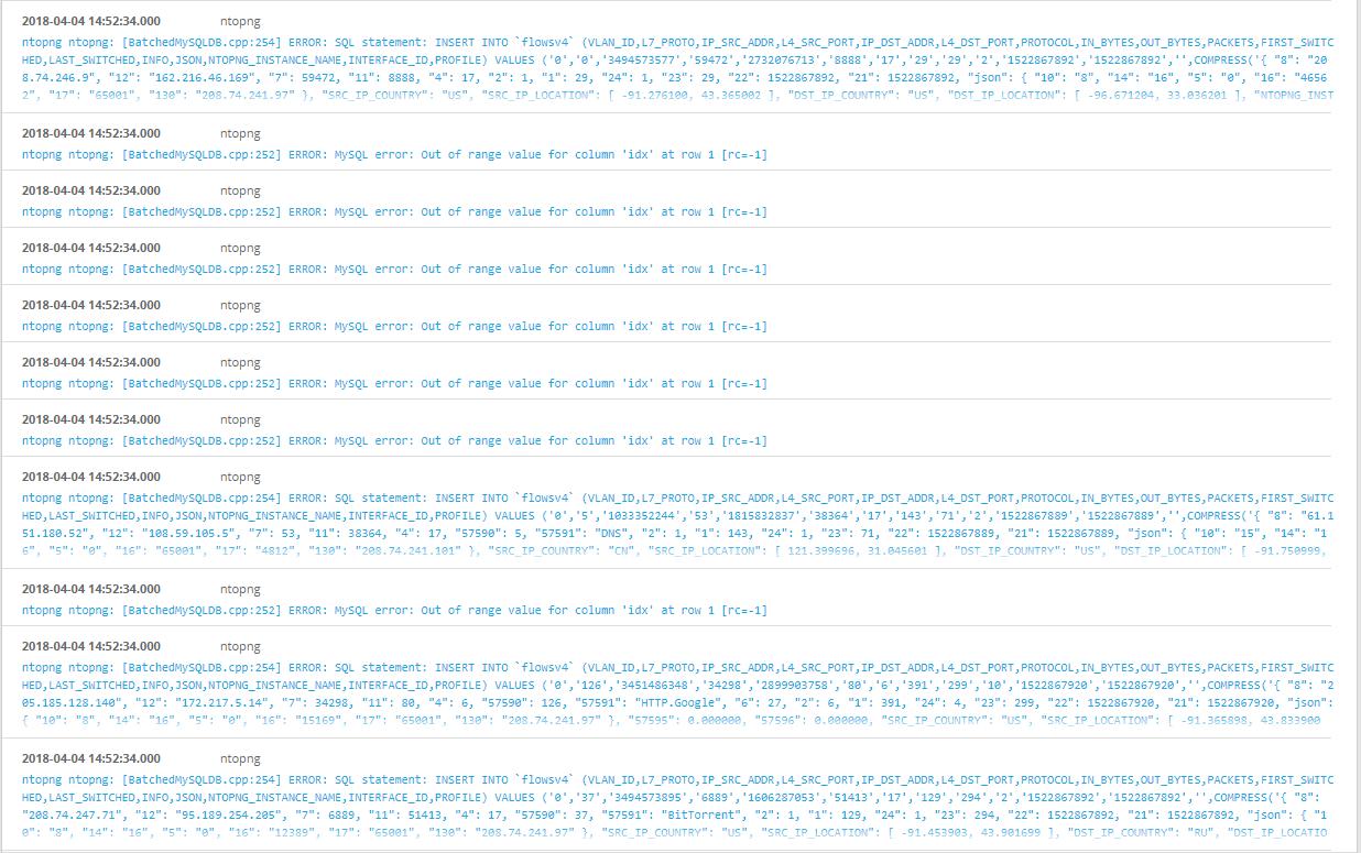 ntopng mysqldb errors · Issue #1733 · ntop/ntopng · GitHub