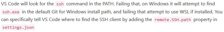 Remote-SSH: Fails to discover WSL SSH · Issue #937 · microsoft