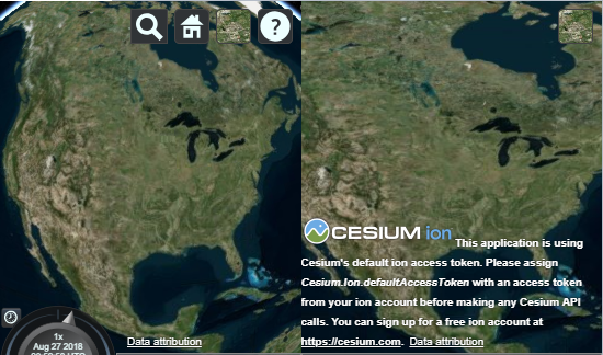 Cesium logo not showing with multiple viewers · Issue #6965