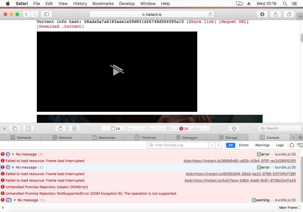 iOS 11 support · Issue #145 · webtorrent/instant.io · GitHub