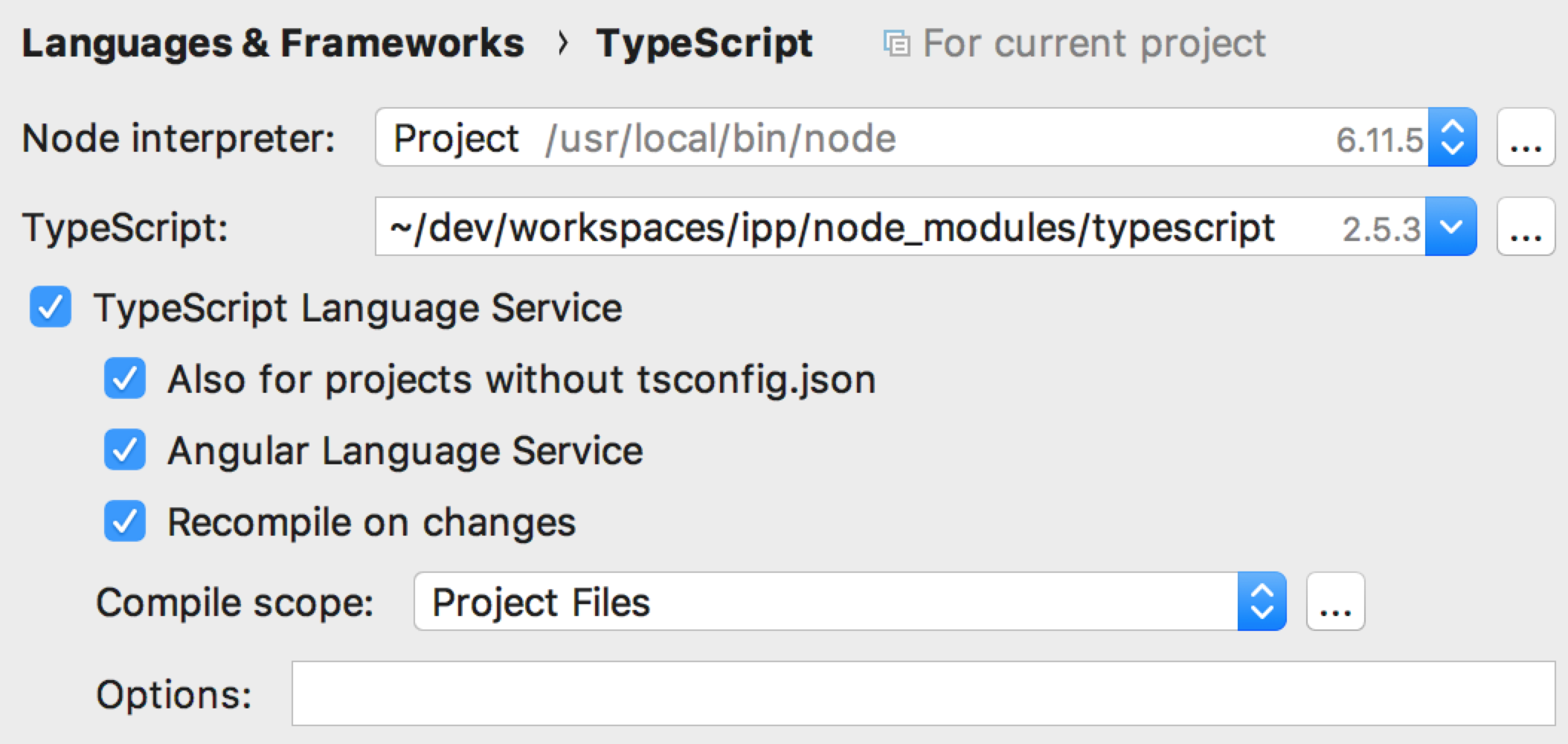 Language Service  Component '   ' is not included in a