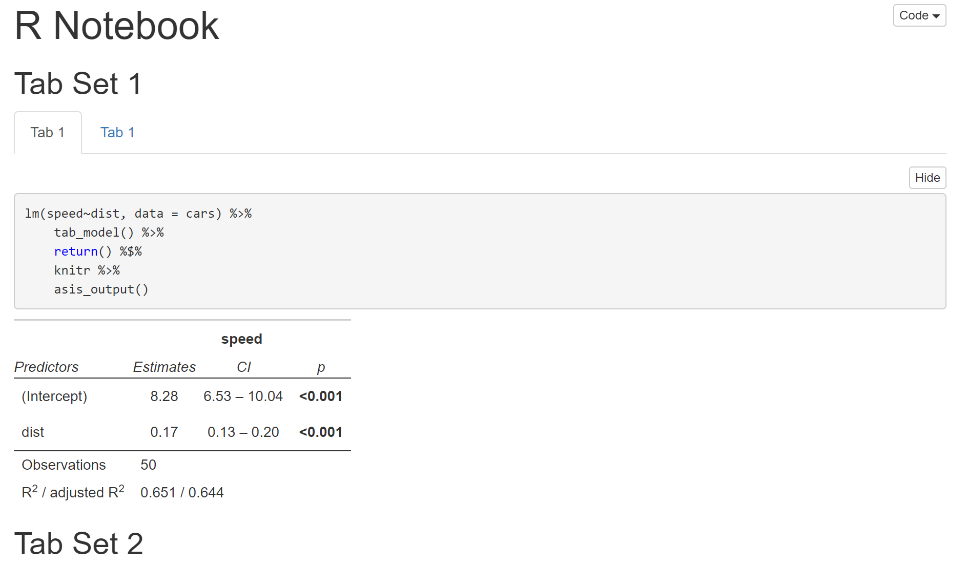 Problem with tab_model() and { tabset} in rmarkdown · Issue #394