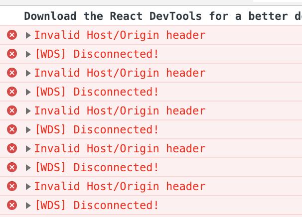 Invalid Host/Origin Header