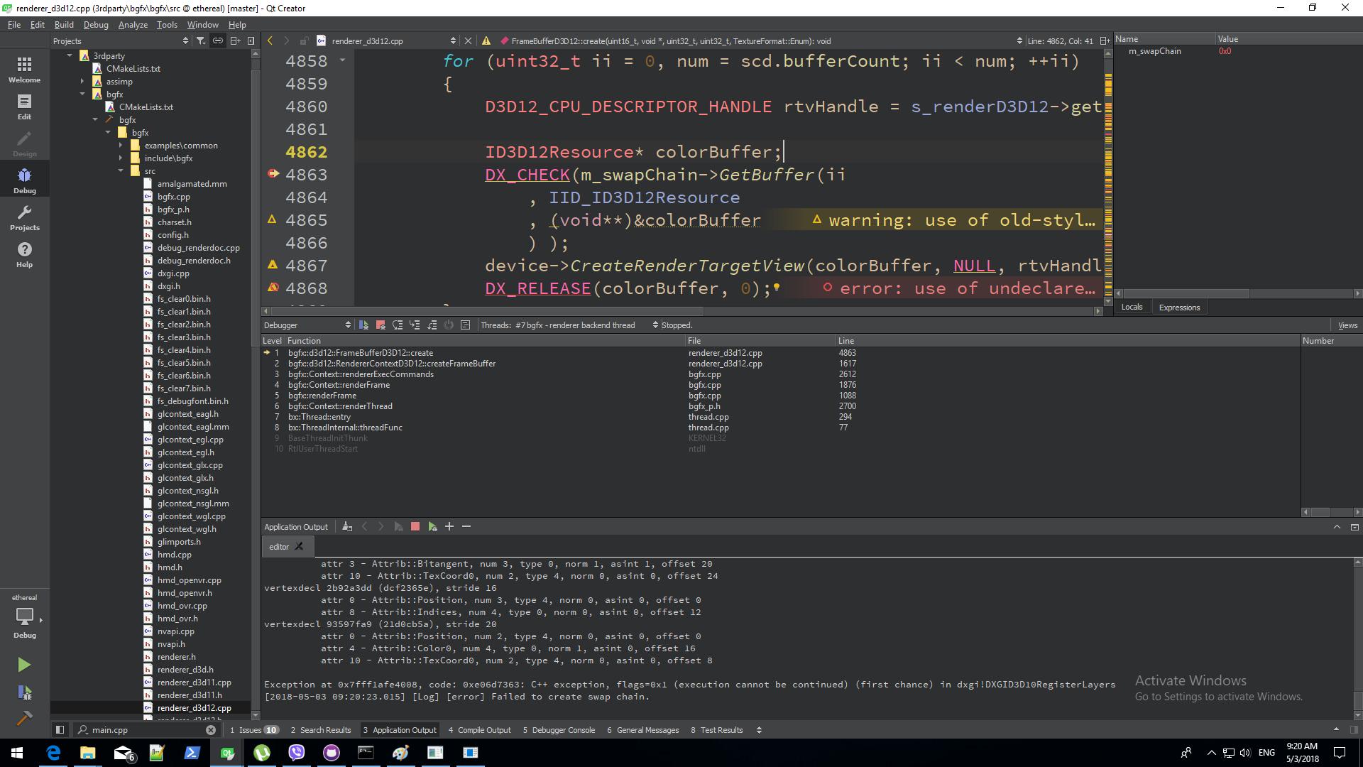 dx12 swap chain  · Issue #1323 · bkaradzic/bgfx · GitHub
