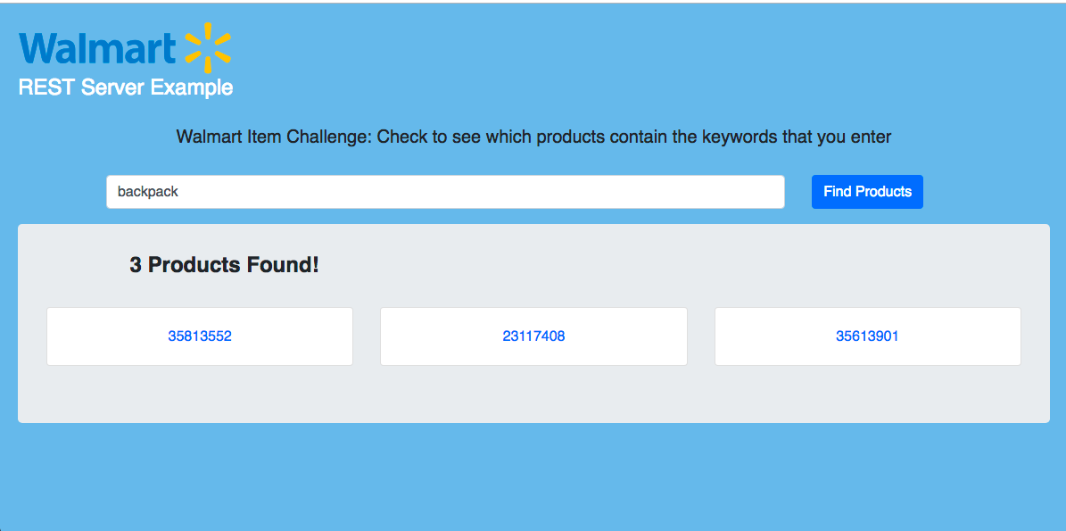 GitHub - devlinjunker/app walmart fend: Frontend for Walmart API