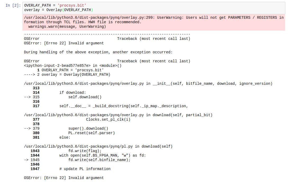fpga_manager fpga0: Error while writing bin data to FPGA