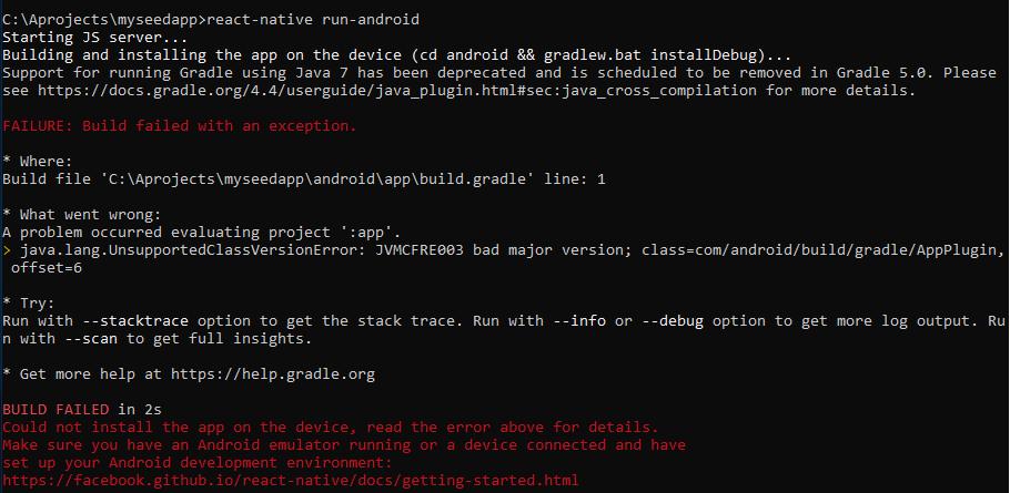 react-native init has error on windows (0 57 3) · Issue