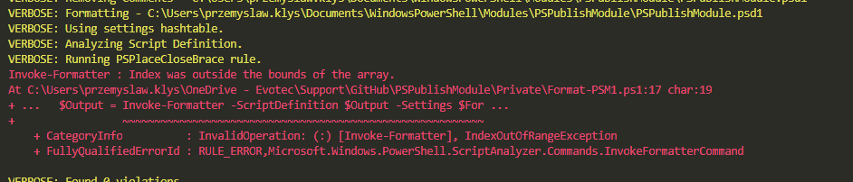 Problem with formatting Hash · Issue #1219 · PowerShell