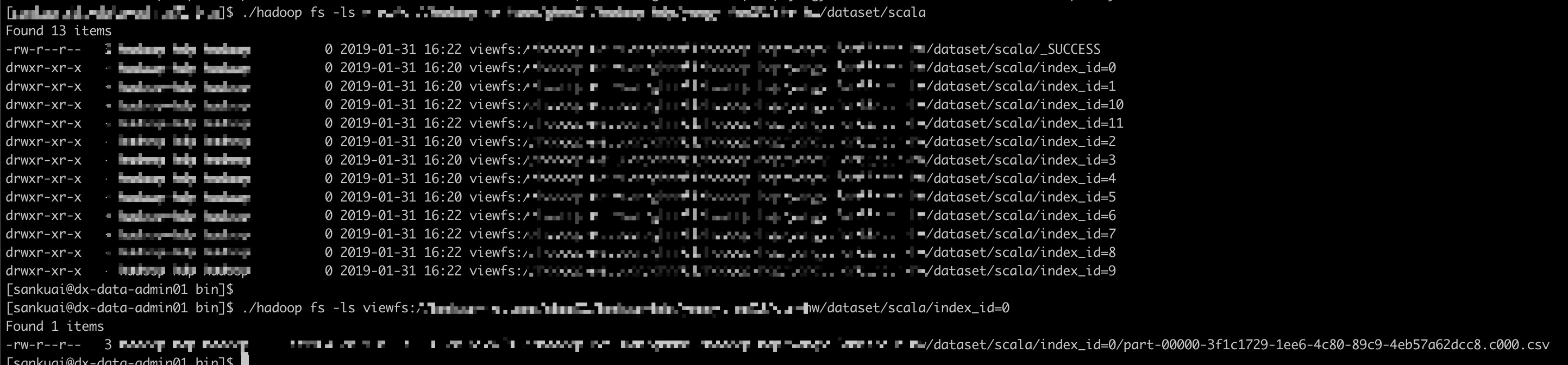 can not use with Dataframe write partitionBy, always output