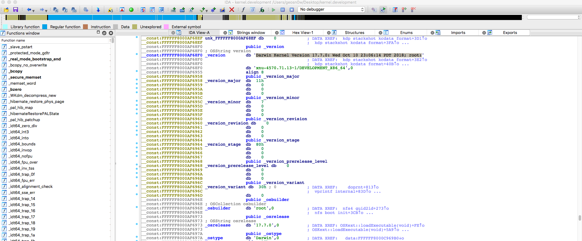 Debugging the macOS kernel