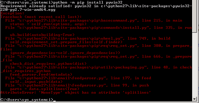 Using pip command for Package Download and Installation