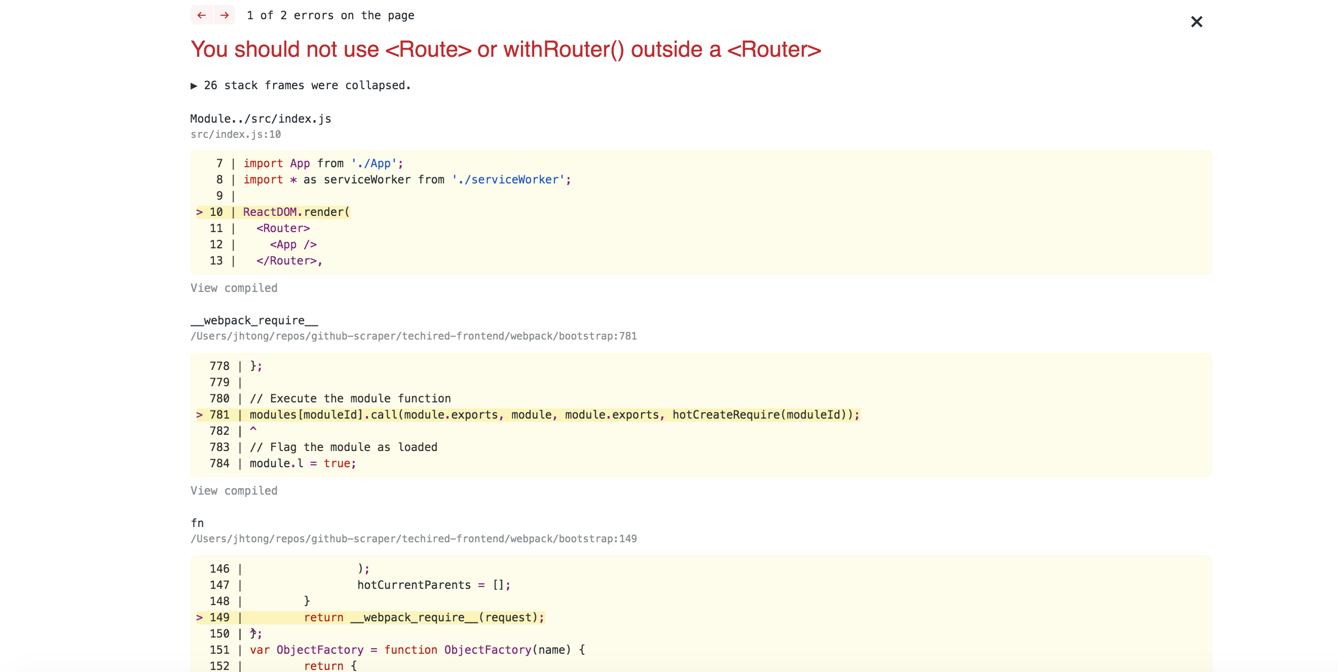 Okta-React fails with React-Router-Dom >v4 3 1 · Issue #414