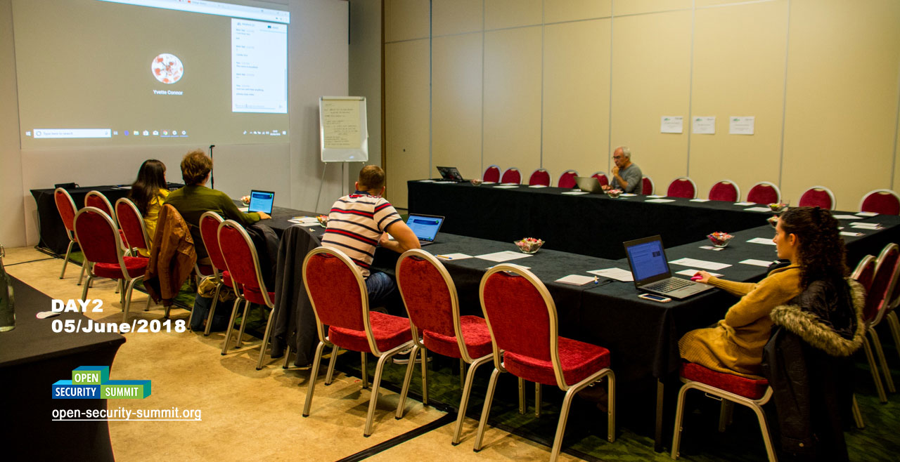We organized the first session on the Summit with a remote organizer