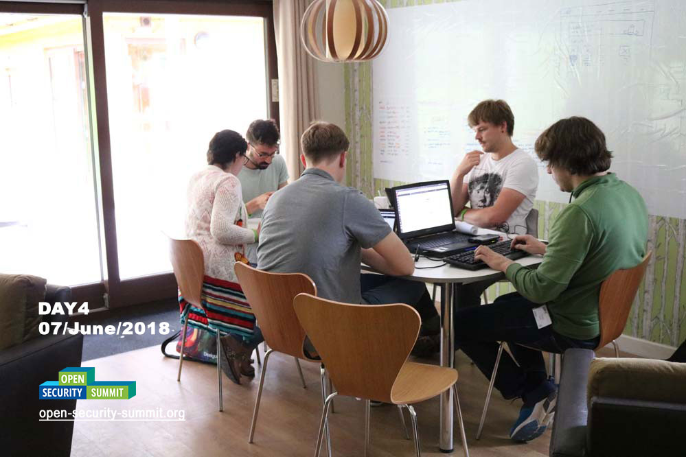Working session in villa