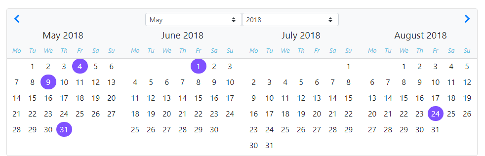 Datepicker marking multiple dates  · Issue #2391 · ng