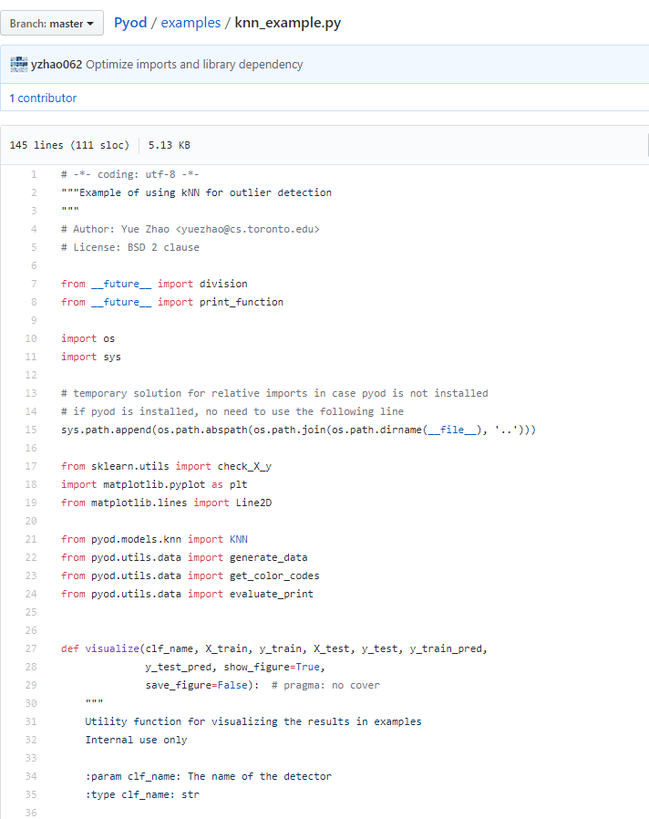 func:`pyod utils data visualize` is not existed · Issue #14