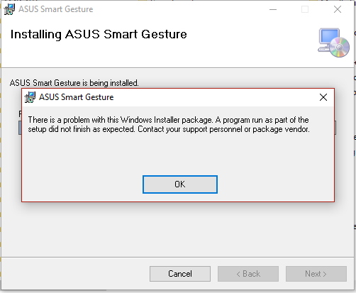 what happens if i uninstall asus smart gesture