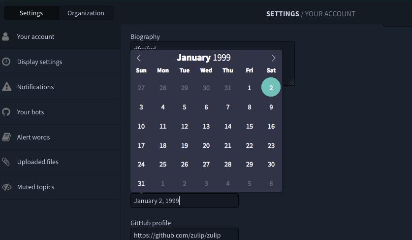 dark mode: Date picker styling doesn't fit dark mode · Issue #10607